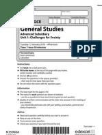 January 2010 Unit 1 - General Studies