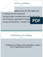 Ppt. on Staffing Approach by Pooja Sharma