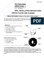 General Installation Instructions Orifice Plates and Flanges