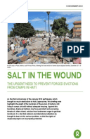 Salt in the Wound: The urgent need to prevent forced evictions from camps in Haiti