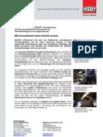BESSEY optimiertes Schienenprofil - Presseinformation