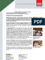 BESSEY Einhandzwingen EZS und DUO - Presseinformation