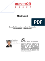 Experton Group Marktsicht;Hohes Marktwachstum von Social Business for Collaboration & Communication