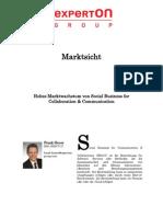 Experton Group Marktsicht;Hohes Marktwachstum von Social Business for Collaboration & Communication