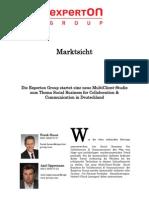 Experton Group Marktsicht;Die Experton Group startet eine neue MultiClient-Studie zum Thema Social Business for Collaboration & Communication in Deutschland