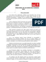 Manifiesto PSOE Día Internacional de los Derechos Humanos 2012