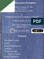 Diapositivas de la presentación del XXXI Encuentro Escéptico