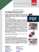 BESSEY Plattenspanner PS130 und PS55 - Presseinformation