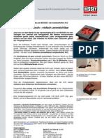 BESSEY Abstandhalter AV2 - Presseinformation