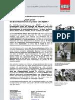 BESSEY Maschinentischspanner BAS - Presseinformation