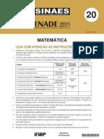Enade 2011 Prova Matematica