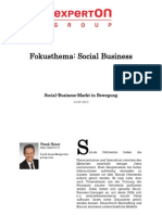 Experton Group Fokusthema Social Businesst; Social-Business-Markt in Bewegung