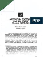 Estructura temporal Viaje a la Semilla de Alejo Carpentier