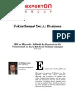 Experton Group Fokusthema Social Business; IBM vs. Microsoft – Schlacht der Giganten um die Vorherrschaft im Markt für Social-Business-Lösungen,