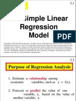 Simple Linier Regression Model