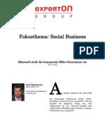 Experton Group Fokusthema Social Business;Microsoft stellt die kommende Office-Generation vor