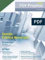 Cadernos FGV Projetos nº 8 - Gestão Pública Municipal