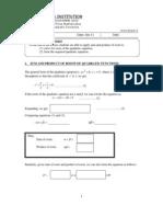 Quad Fn Worksheet 5