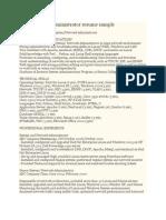 Linux System Administrator Resume Sample