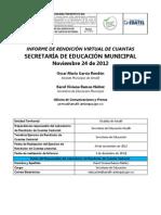 Informe de Rendición Virtual de Cuentas Secretaria de Educación Amalfi