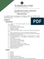 Materiales y reglamentación para talleres y laboratorios