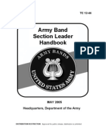 ARMY Band Section Leader Handbook 2005 70 Pages