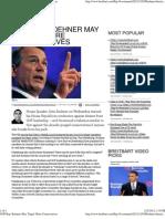 GOP Rep Boehner May 'Target' More Conservatives
