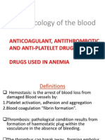 Pharmacology of the Blood