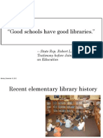 Good Schools Have Good Libraries