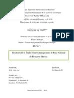 Biodiversité et Etude Ethnobotanique dans la Parc National de Belezma (Batna)