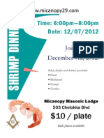Shrimp Dinner Flyer 121207