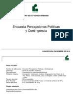 Encuesta percepciones políticas y contingenc