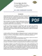 ISO 13485 LAT_Training Objective