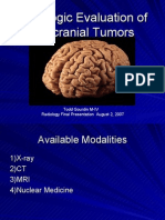 Radiologic  Evaluation of Intracranial Tumors2
