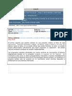 Elabora 6 fichas bibliográficas tomando de las lecturas básicas de Del Val José. 2004. México. Identidad y nación. UNAM. México.