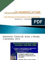 Allergen Nomenclature n. 2 Jhs