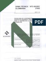 Normas ISO 27002 Colombiana