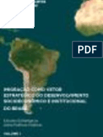 Imigração como vetor estratégico do desenvolvimento socioeconômico e institucional do Brasil