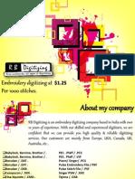 RB Digitizing - Embroidery Digitizing Services