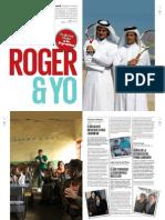 Federer y los argentinos en la revista VIVA