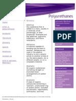 Polyurethanes - Glossary