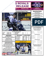 Reading Royals Report, Dec 10, 2012