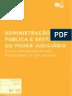 Administração Pública e Gestão do Poder Judiciário