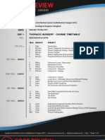 London Core Review Course - [Sat 11 May - Tues 14 May 2013] - Timetable