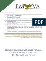 agenda 12-10-2012