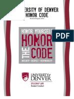 University of Denver Honor Code