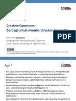 Creative Commons: Berbagi untuk memberdayakan kreativitas