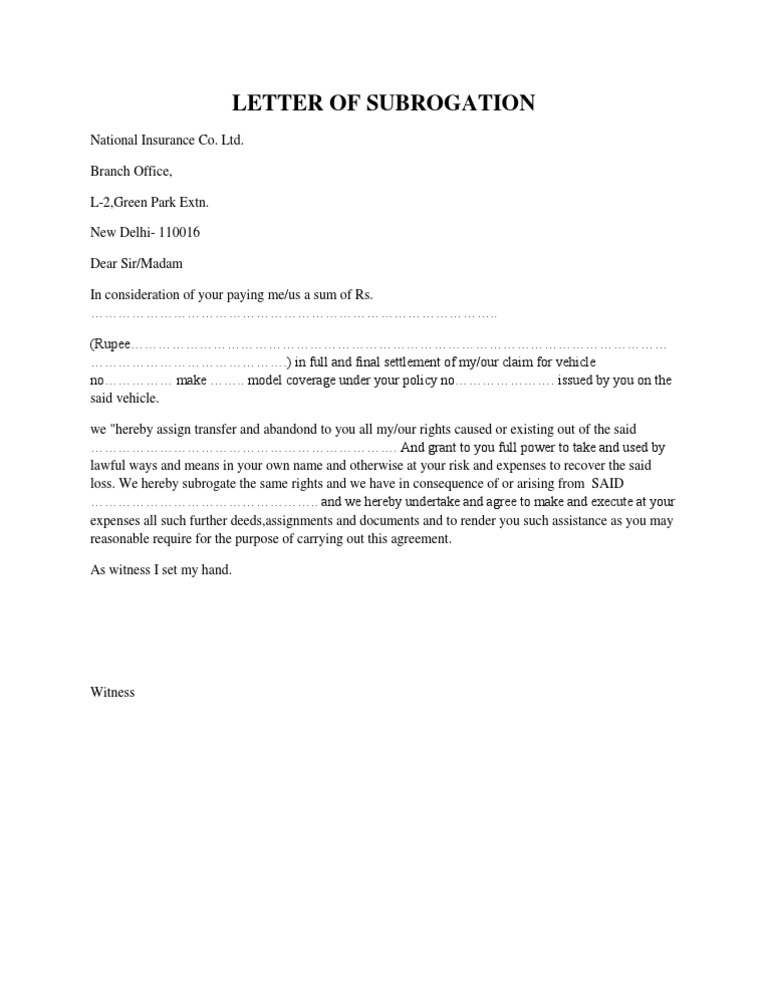 Example Of Demand Letter To Insurance Company