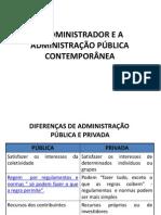 O ADMINISTRADOR E A ADMINISTRAÇÃO PÚBLICA CONTEMPORÂNEA