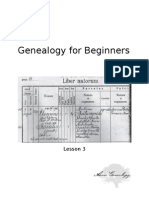 Genealogy For Beginners, Lesson 3